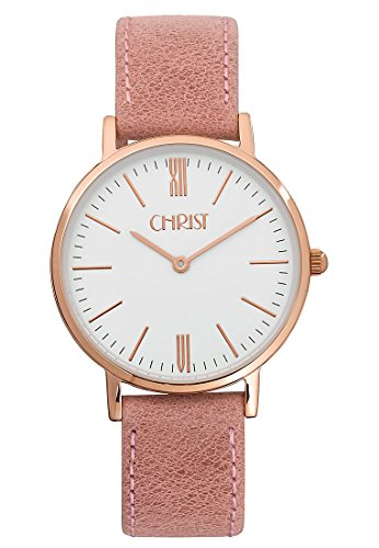 CHRIST times Analog Quarz One Size weiss rosa
