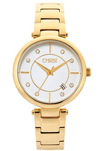 CHRIST times Analog Quarz One Size weiss gold