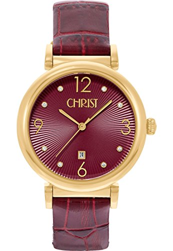 CHRIST times Analog Quarz One Size rot rot