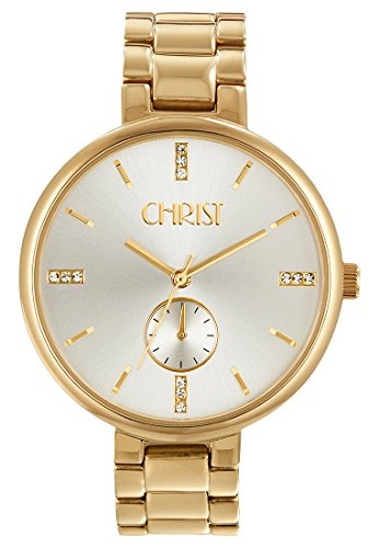 CHRIST times Analog Quarz One Size silber weiss gold