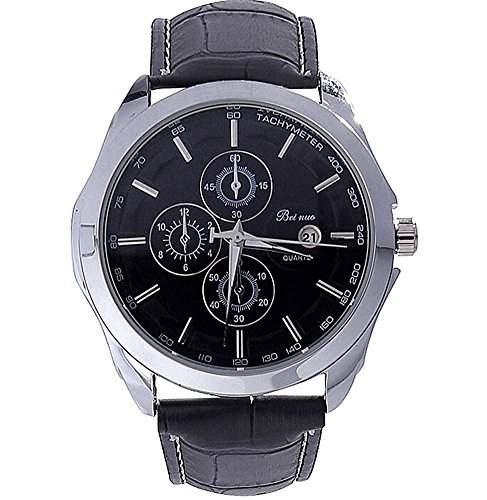 DAYAN Herren-Quarz-Armbanduhren mit Selbstdatum Kalender Anzeige Funktion weiss