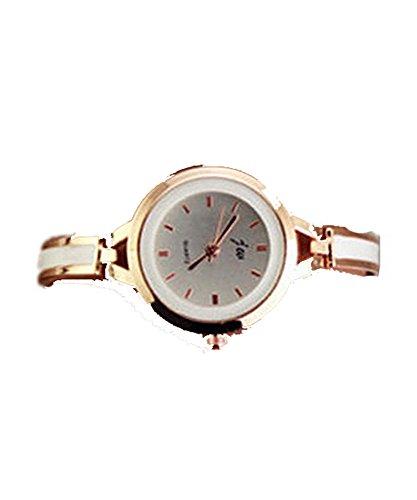 DAYAN Frauen Dame Gold Rund Quarz Analog Mode Kleid Armband Armbanduhr