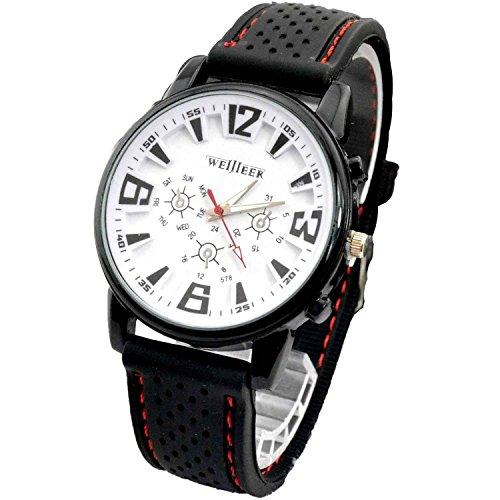 DAYAN Hohe Qualitaet 1pc New Pretty Fashion Geschaeft Mens Armee Sport Silicone Rubber Uhren