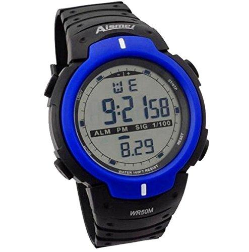 DAYAN Gute Qualitaet digital wasserdichten Outdoor Uhren Sport Uhr Digital Chronograph fuer Herren blau