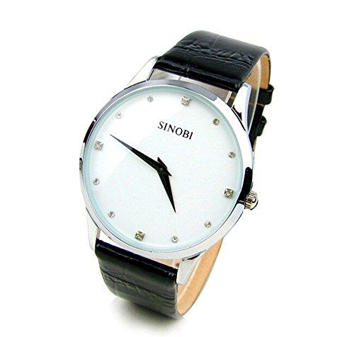 DAYAN Neue heisse Verkaufs Marke Lederband Quarz Militaerwasserdicht Armbanduhr Marke Farbe Weiss