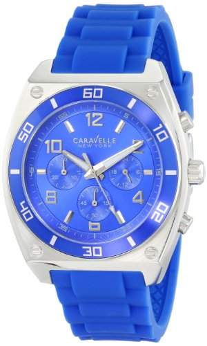 Caravelle New York Herren 45A115 Analog Display Japanese Quartz Blue Armbanduhr