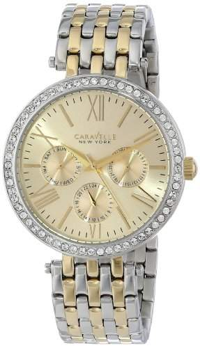 Caravelle New York Damen 45N100 Analog Display Japanese Quartz Two Tone Armbanduhr