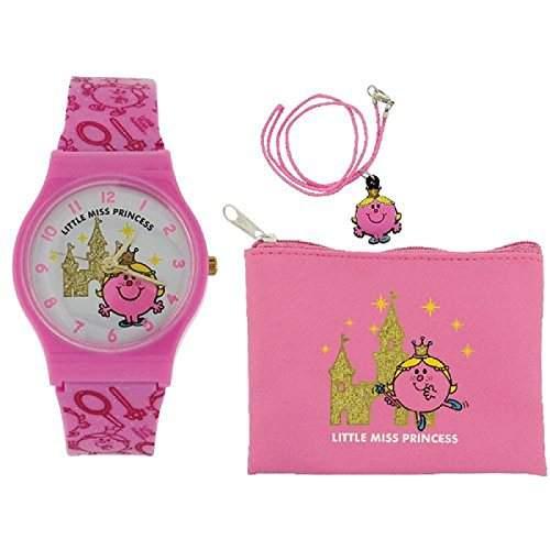 Mr Men and Little Miss Maedchen-Armbanduhr Analog Kunststoff Rosa LM0001SET