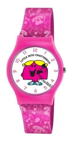 Mr Men and Little Miss Maedchen-Armbanduhr Analog Kunststoff Rosa LM0003