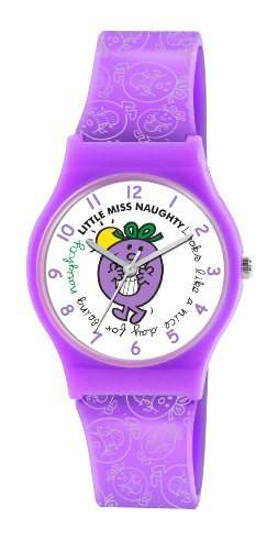 Mr Men and Little Miss Maedchen-Armbanduhr Analog Kunststoff Violett LM0004