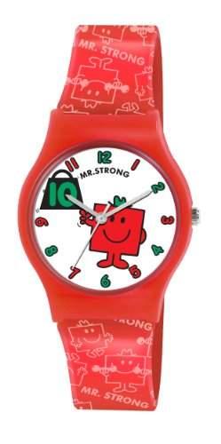Mr Men and Little Miss Jungen-Armbanduhr Analog Kunststoff Rot LM0006