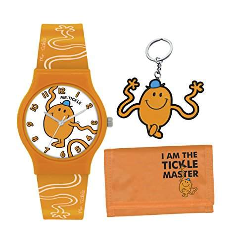 Mr Men and Little Miss Jungen-Armbanduhr Analog Kunststoff Orange LM0007SET