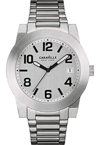 Caravelle New York Herren-Armbanduhr Analog Quarz One Size, silber, silber