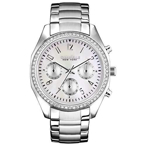 Caravelle New York Damen-Armbanduhr BOYFRIEND Chronograph Quarz Edelstahl 43L159