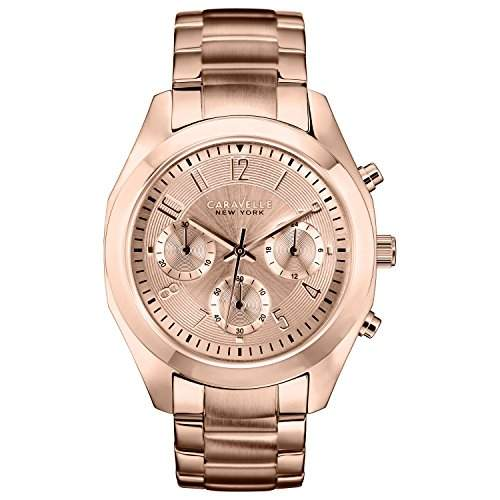 Caravelle New York Damen-Armbanduhr Chronograph Quarz Edelstahl 44L115