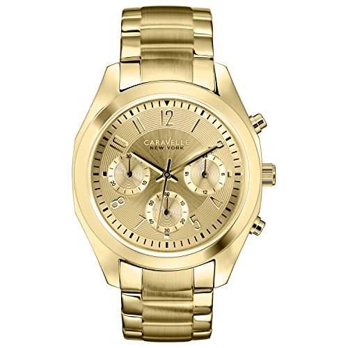 Caravelle New York Damen-Armbanduhr BOYFRIEND Chronograph Quarz Edelstahl beschichtet 44L118