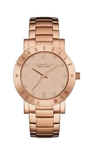 Caravelle New York Damen-Armbanduhr NEW BOYFRIEND Analog Quarz Edelstahl beschichtet 44L201