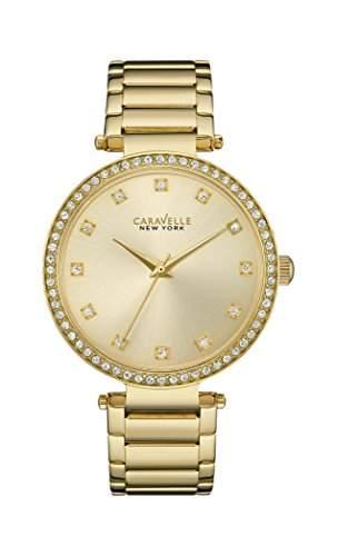 Caravelle New York Damen-Armbanduhr T-BAR Analog Quarz Edelstahl beschichtet 44L209