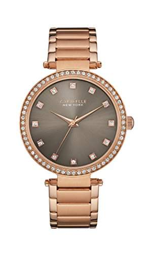 Caravelle New York Damen-Armbanduhr T-BAR Analog Quarz Edelstahl beschichtet 44L211