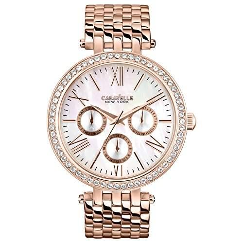 Caravelle New York Damen-Armbanduhr Analog Quarz Edelstahl 44N101