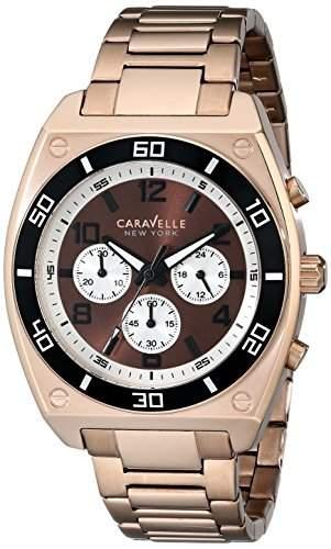 Caravelle New York Herren 45A110 Analog Display Japanese Quartz Rose Gold Armbanduhr