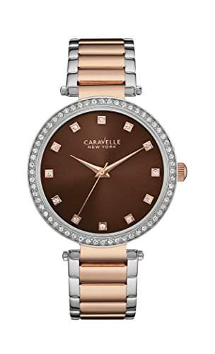 Caravelle New York Damen-Armbanduhr T-BAR Analog Quarz Edelstahl beschichtet 45L152
