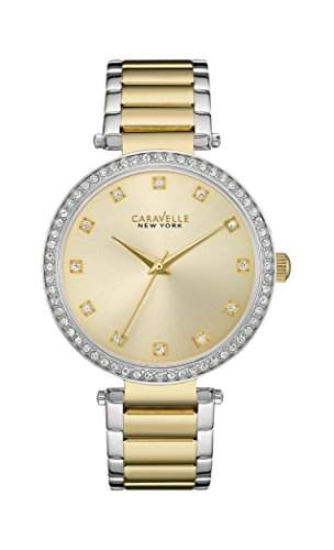 Caravelle New York Damen-Armbanduhr T-BAR Analog Quarz Edelstahl beschichtet 45L154
