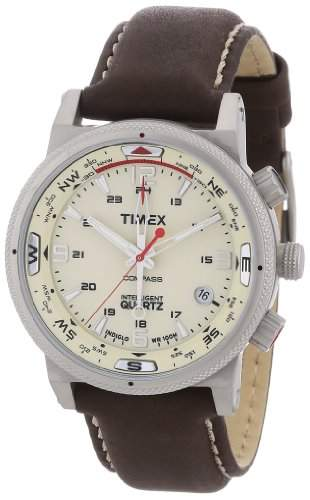 Timex Classic Herren-Armbanduhr XL Expedition E Compass Analog Leder T2N725
