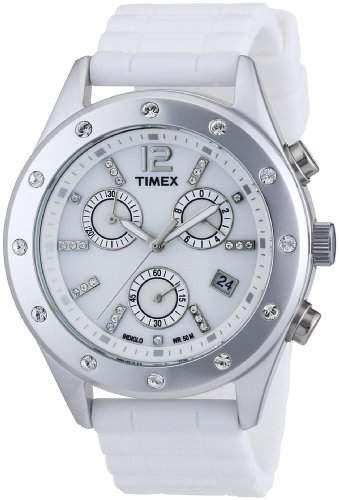 Timex Damen-Armbanduhr Modern Originals Sport Chronograph Silikon T2N830