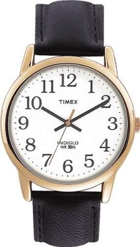 Timex Herren-Armbanduhr Weiss Analog Leder T20491D7