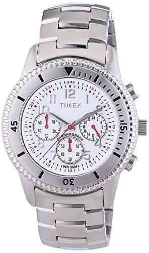 Timex Herren-Armbanduhr XL Chronograph Edelstahl beschichtet T2N160