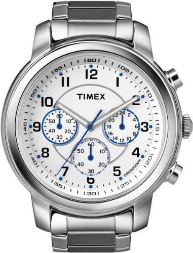 Timex Herren-Armbanduhr XL Milan Chronograph Chronograph Edelstahl T2N167