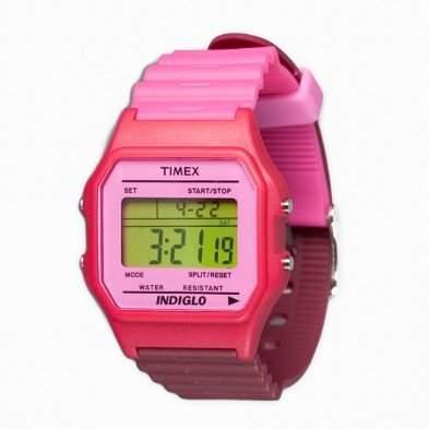 Timex Unisex-Armbanduhr T80 Classic Digital Quarz Violett T2N209