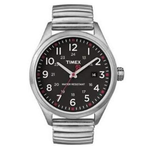 Timex Damen-Armbanduhr Analog Edelstahl beschichtet T2N310