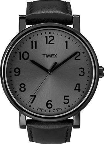 Timex Unisex-Armbanduhr Schwarz Quarz Leder T2N346D7