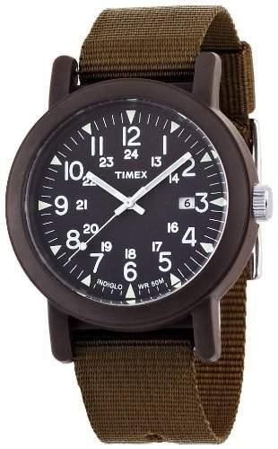 Timex Herren-Armbanduhr Analog-Anzeige Canvas-Halteband T2N363PF