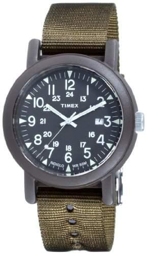 Timex Herren-Armbanduhr XL Camper Modern Heritage Analog Nylon T2N363D7