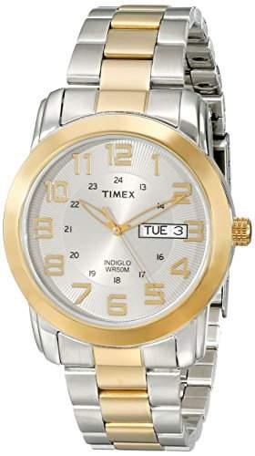 Timex Classic Herren-Armbanduhr Analog edelstahl mehrfarbig T2N439PF