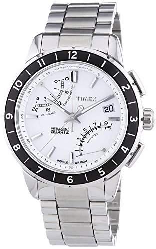 Timex Herren-Armbanduhr Analog Edelstahl Silber T2N499AU