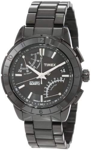 Timex Herren-Armbanduhr Analog Edelstahl schwarz T2N500AU