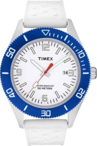 Timex Unisex-Armbanduhr Analog Silikon weiss T2N535D7