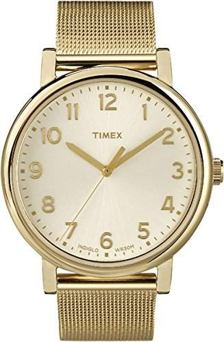 Timex Unisex-Armbanduhr Analog Quarz Edelstahl T2N598