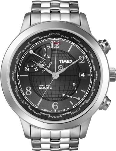 Timex Herren-Armbanduhr Analog Edelstahl Silber T2N610D7