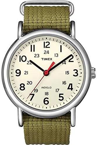 Timex Unisex-Armbanduhr Weekender Analog Nylon T2N651PF