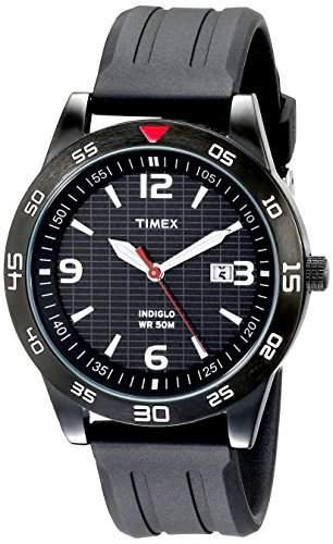 Timex Classic Herren-Armbanduhr XL Analog Kautschuk T2N694