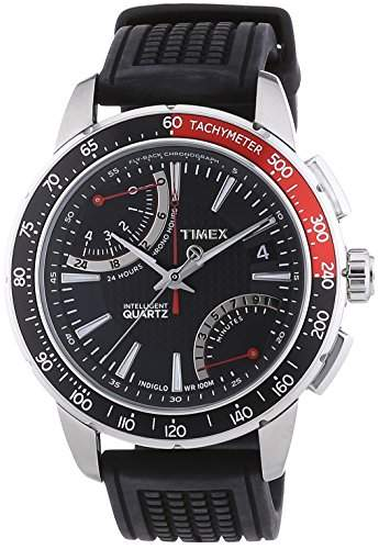 Timex Herren-Armbanduhr Analog Silikon schwarz T2N705D7