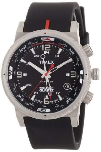 Timex Classic Herren-Armbanduhr XL Expedition E Compass Analog Kautschuk T49817SU