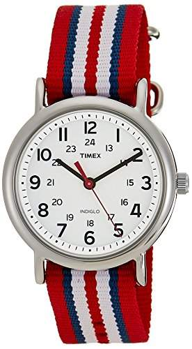 Timex Unisex-Armbanduhr Weekender Slip Through Analog Nylon T2N746D7