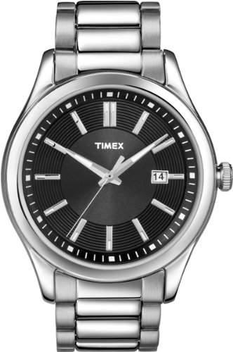 Timex Herren-Armbanduhr XL Analog Edelstahl T2N779