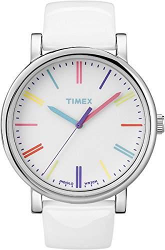 Timex Damen-Armbanduhr Timex Style Analog Leder weiss T2N791D7